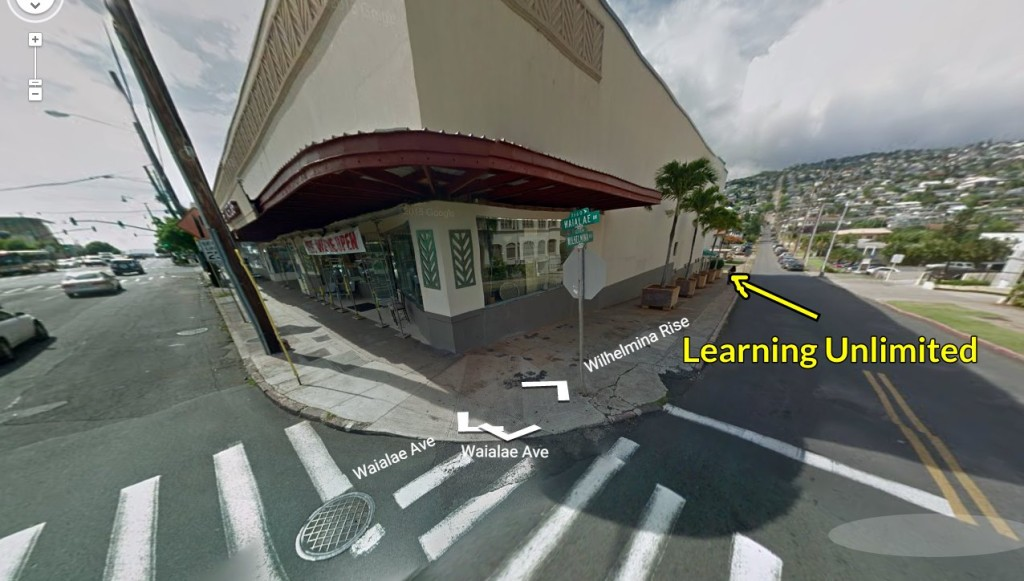 Our location is close to the intersection of Waialae and Wilhemina.